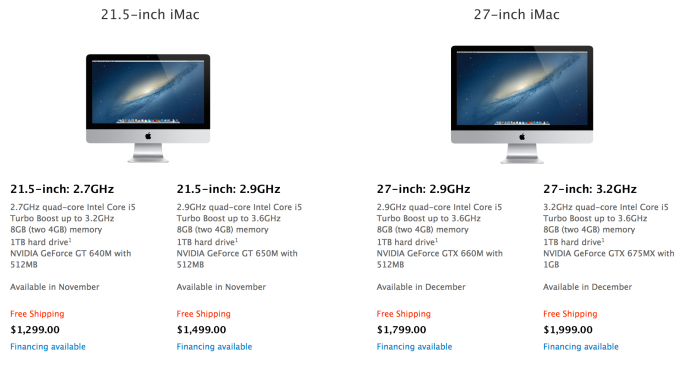 iMac 2012 والفيديو الاسعار 31.png