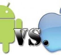 دراسة لمقارنة سلوك المستخدمين لتطبيقات اندرويد وتطبيقات أبل