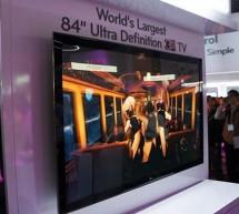 """أضخم شاشة تلفاز في العالم تطرحها """"إل.جي"""" قياسها 84 بوصة"""