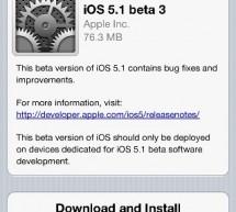 تحديث جديد Apple posts iOS 5.1 Beta 3 للمطورين