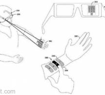 لوحة مفاتيح على معصم اليد مع تقنية نظارة جوجل الجديدة