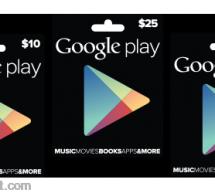 جوجل تبدأ البيع الفعلي Google Play Gift Card