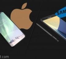 """ابرز الفروقات بين """"غالاكسي نوت 8"""" و """"آيفون 8"""" Galaxy Note 8 vs iPhone 8"""